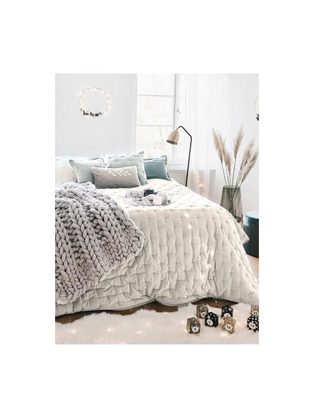 Wattierte Samt-Tagesdecke Cheryl mit dekorativer Steppung, Vorderseite: Baumwollsamt, Rückseite: Baumwolle, Champagner, B 160 x L 220 cm (für Betten bis 140 x 200)