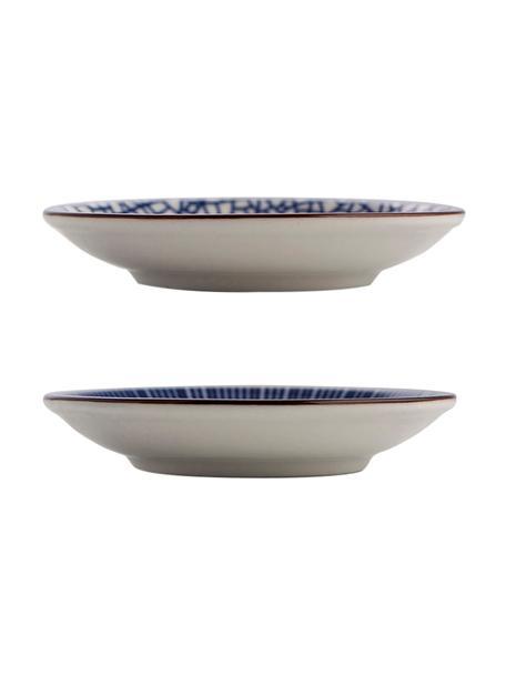 SEt de platos pequeños de porcelana Passion, 2uds., Porcelana, Azul, blanco, Ø 10 cm