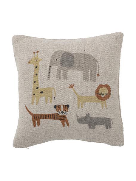Cuscino con stampa animalier Brett, Rivestimento: 63% cotone riciclato, 33%, Marrone, Larg. 40 x Lung. 40 cm