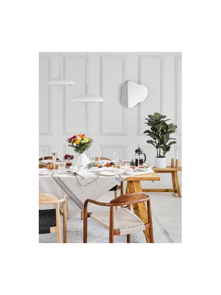 Scandi hanglamp Mathea, Baldakijn: gepoedercoat metaal, Lampenkap: gepoedercoat metaal, verm, Wit, Ø 38  x H 8 cm