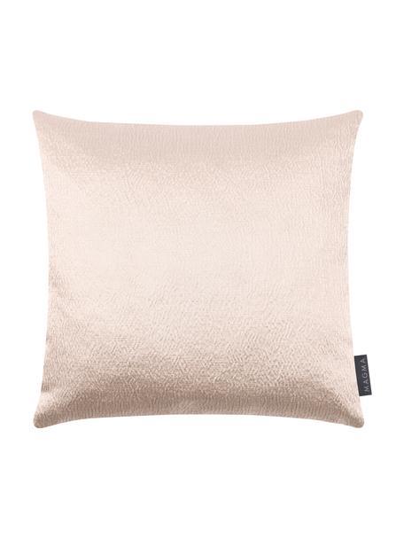 Glänzende Kissenhülle Nilay in Beige, 56% Baumwolle, 44% Polyester, Beige, 40 x 40 cm