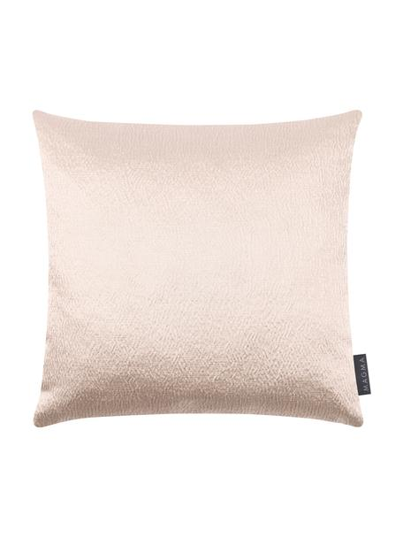 Połyskująca poszewka na poduszkę Nilay, 56% bawełna, 44% poliester, Beżowy, S 40 x D 40 cm