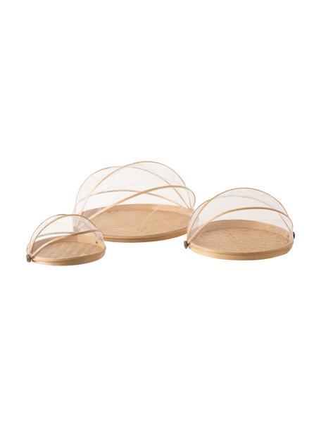 Servierplatten Genso aus Naturfasern, 3er-Set, Bambus, Schilf, Rattan, Rattan, Set mit verschiedenen Größen