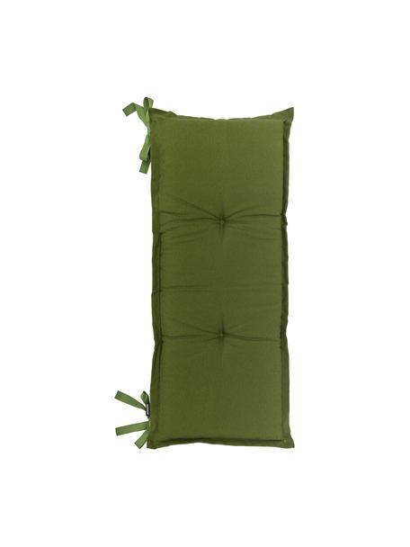 Cuscino sedia lungo in tinta unita Panama, Rivestimento: 50% cotone, 45% poliester, Verde, Larg. 48 x Lung. 120 cm