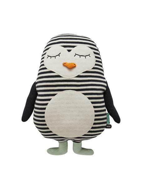 Poduszka do przytulania Pingo, Bawełna, Złamana biel, czarny, zielony miętowy, pomarańczowy, S 31 x W 41 cm