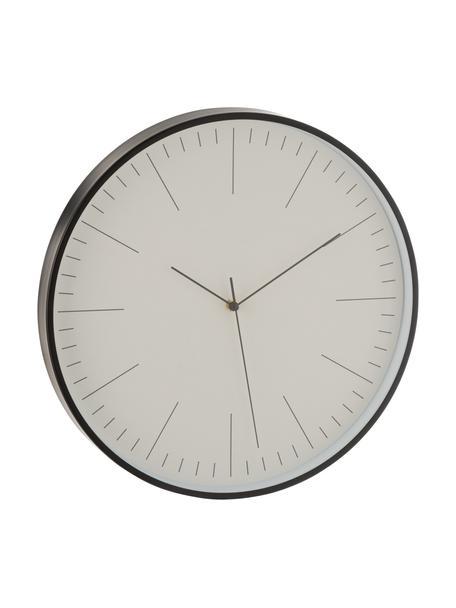Reloj grande de pared Gerbert, Aluminio recubierto, Negro, Ø 40 cm