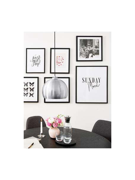Gerahmter Digitaldruck Hepburn, Bild: Matho Litho Papier, Rahmen: Kunststoffrahmen mit Glas, Schwarz, Weiss, 40 x 40 cm