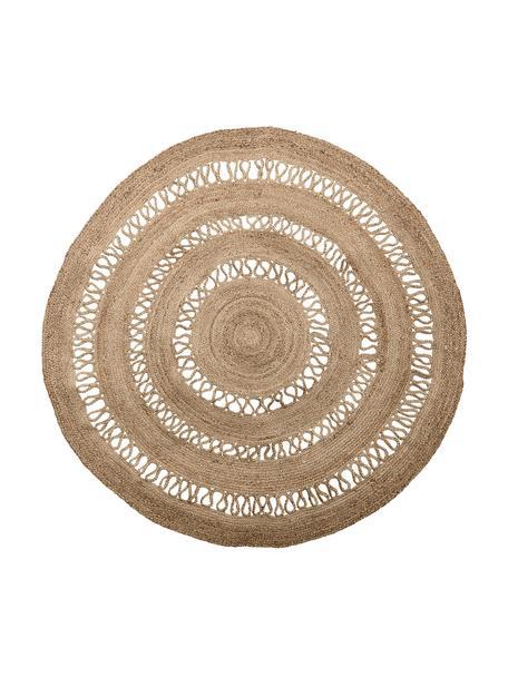 Alfombra redonda de yute Benita, estilo boho, 100%yute, Yute, Ø 182 cm (Tamaño L)