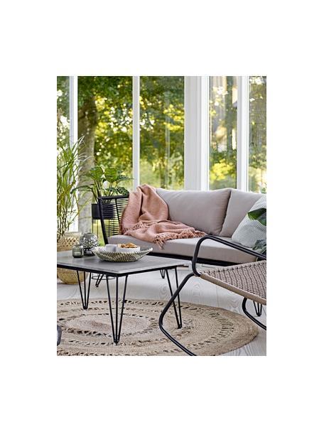 Okrągły dywan z juty w stylu boho Benita, 100% juta, Juta, Ø 182 cm (Rozmiar L)