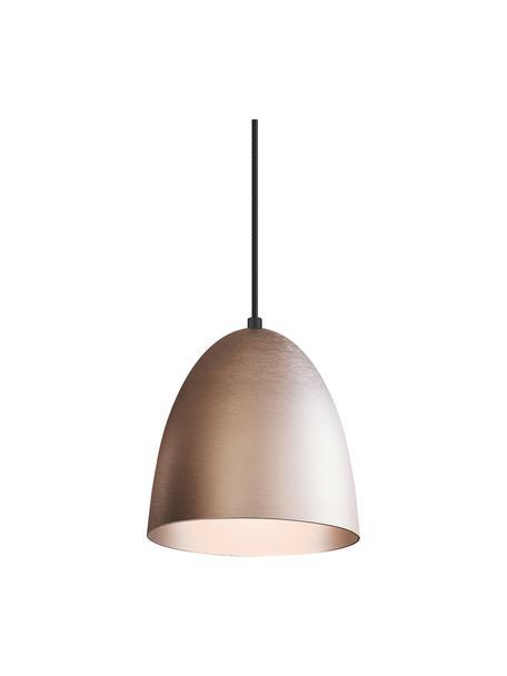 Lámpara de techo pequeña The Classic, Pantalla: metal, Anclaje: plástico, Cable: cubierto en tela, Plateado, Ø 20 x Al 21 cm