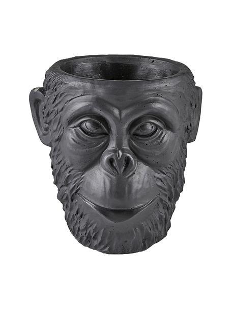 Portavaso in cemento Monkey, Cemento, Nero, Ø 19 x Alt. 19 cm