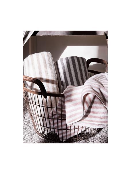 Set de toallas Viola, 3pzas., Color arena, blanco crema, Set de diferentes tamaños