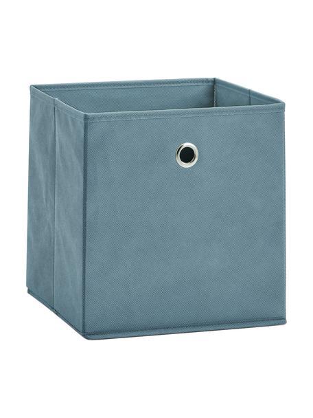 Opbergdoos Lisa, Bekleding: fleece, Frame: karton, metaal, Blauw, 28 x 28 cm