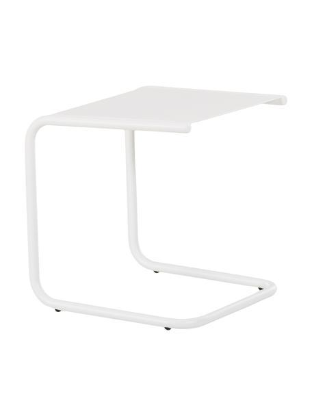 Tavolino da esterno in metallo Club, Piano d'appoggio: metallo verniciato a polv, Struttura: alluminio verniciato a po, Bianco, Larg. 40 x Prof. 40 cm