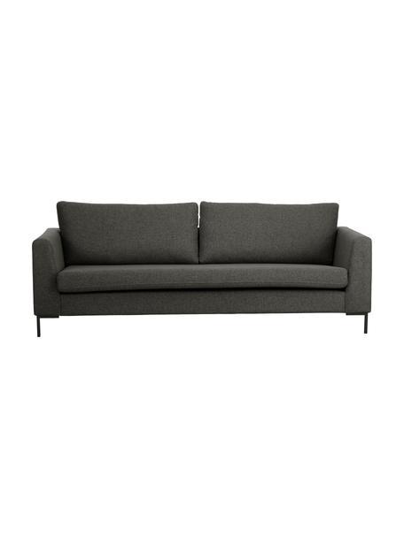 Sofa Luna (3-Sitzer) in Anthrazit mit Metall-Füßen, Bezug: 100% Polyester Der hochwe, Gestell: Massives Buchenholz, Füße: Metall, galvanisiert, Webstoff Dunkelgrau, B 230 x T 95 cm