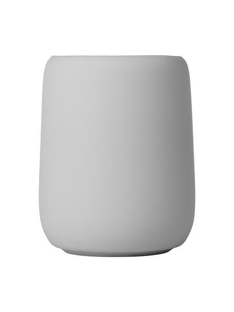 Zahnputzbecher Sono aus Keramik, Keramik, Grau, Ø 9 x H 11 cm