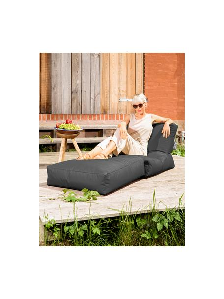 Fotel ogrodowy z funkcją leżenia Pop Up, Tapicerka: 100% poliester Wewnątrz p, Antracytowy, S 70 x W 80 cm