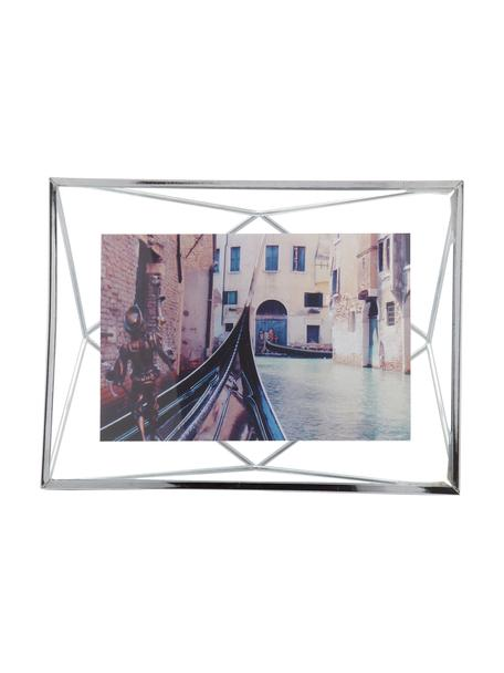 Portafoto da tavolo argentato Prisma, Cornice: acciaio, Cromo, 10 x 15 cm