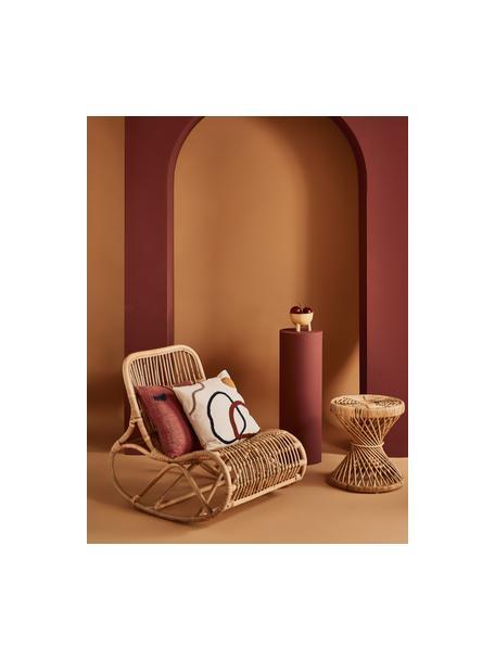 Sedia a dondolo in rattan Kim, Rattan, finitura naturale, Rattan, Larg. 62 x Prof. 90 cm