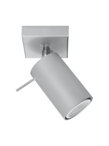 Faretto da soffitto grigio Etna, Paralume: acciaio verniciato, Struttura: metallo, Grigio, Larg. 8 x Alt. 15 cm