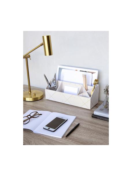 Organizer biurowy Elisa, Tektura laminowana, Odcienie złotego, biały, S 33 x W 13 cm