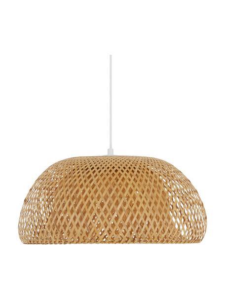 Design hanglamp Eden van bamboehout, Lampenkap: bamboehout, Bamboehoutkleurig, Ø 45 x H 21 cm