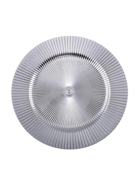 Podstawka pod talerz Athens, Tworzywo sztuczne, Odcienie srebrnego, Ø 31 cm