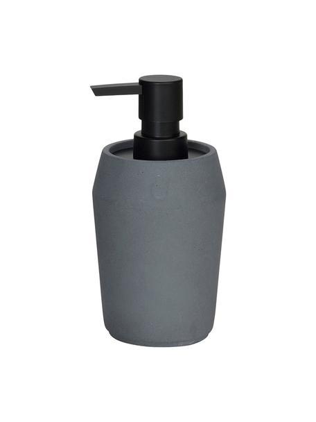 Dosificador de jabón Beddington, Recipiente: cemento, Dosificador: plástico, Tejido gris, Ø 9 x Al 17 cm
