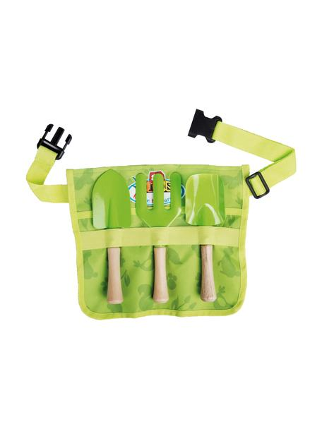 Set cinturón de herramientas de jardinería infantil Little Gardener, 4pzas., Verde, An 29 x Al 25 cm