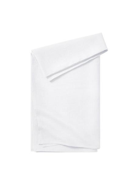 Tovaglia in lino bianco Heddie, 100% lino, Bianco, Per 4-6 persone (Larg.145 x Lung. 200 cm)