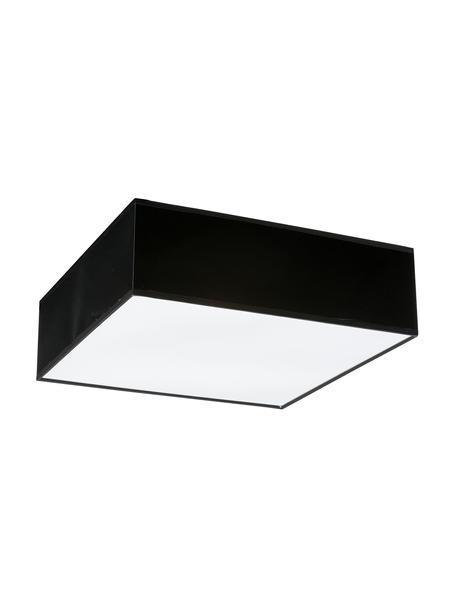 Moderne plafondlamp Mitra, Lampenkap: kunststof, Diffuser: kunststof, Frame: zwart. Diffuser: wit, 35 x 12 cm