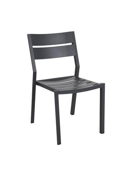 Sedia impilabile da giardino Delia, Alluminio verniciato a polvere, Antracite, Larg. 48 x Prof. 55 cm