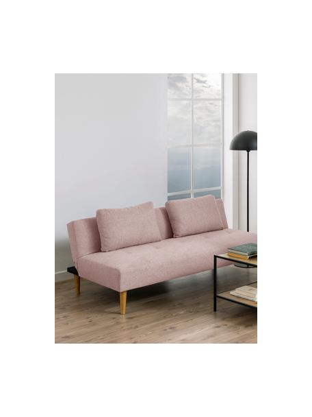 Slaapbank Lucca (2-zits) in roze, Bekleding: 100% polyester, Poten: rubberboom, Roze, 180 x 86 cm