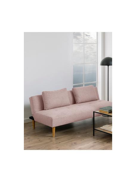 Sofa z funkcją spania Lucca (2-osobowa), Tapicerka: 100% poliester Dzięki tka, Nogi: drewno kauczukowe, Blady różowy, S 180 x G 86 cm