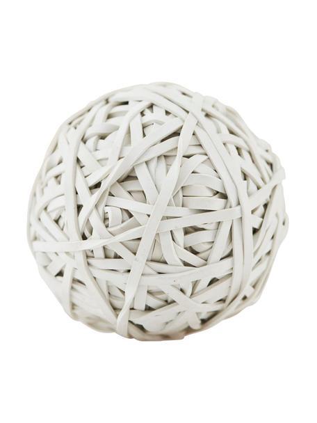 Kula z gumek recepturek Rubba, Guma, Biały, Ø 10 x W 10 cm
