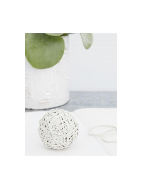 Bal met elastiekjes Rubba, Rubber, Wit, Ø 10 x H 10 cm