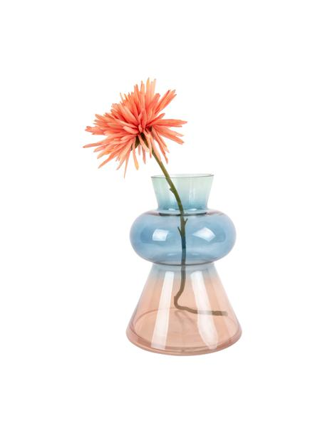 Vaso di design in vetro soffiato Winter Dream, Vetro, Marrone, blu, verde, Ø 17 x Alt. 23 cm