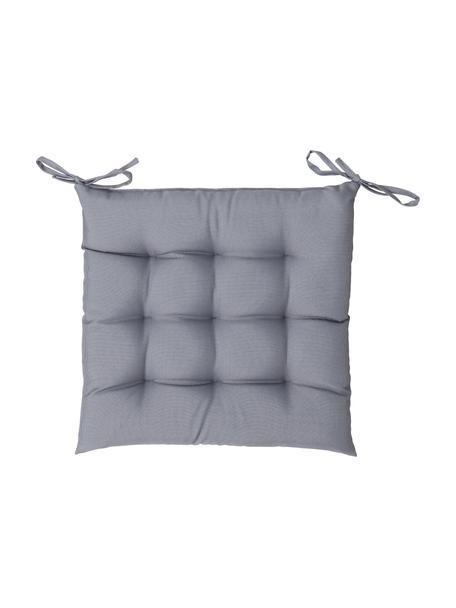 Cuscino sedia bicolore da esterno St. Maxime, Antracite, nero, Larg. 38 x Lung. 38 cm