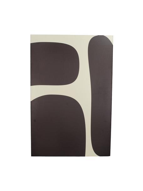 Magnetisch bord Organic, Metaal, Zwart, wit, 40 x 60 cm
