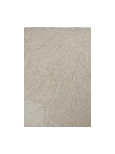 Alfombra artesanal grande Canyon, 51%poliéster, 49%lana, Beige, An 160 x L 230 cm (Tamaño M)