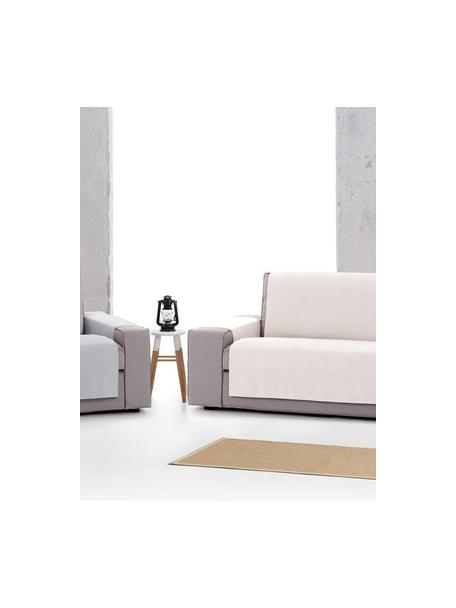 Copertura poltrona Levante, 65% cotone, 35% poliestere, Grigio, Larg. 55 x Lung. 220 cm