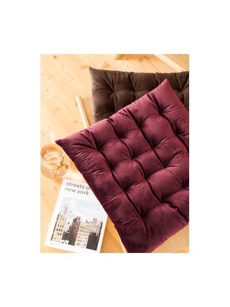 Dwustronna poduszka na krzesło Milana, Wiśniowy, S 40 x D 40 cm
