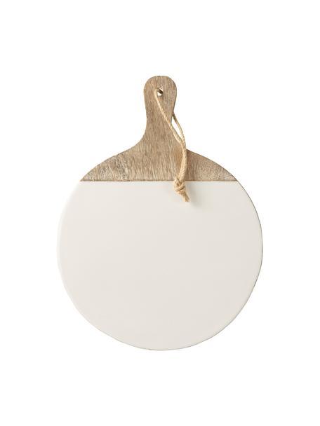 Deska do krojenia z powlekanego drewna mangowego Lugo, Drewno mangowe, powlekane, Biały, drewno mangowe, D 40 x S 30 cm