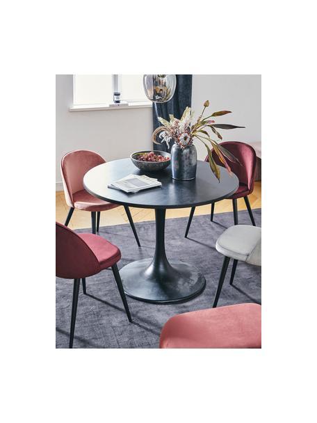 Moderne Samt-Polsterstühle Amy, 2 Stück, Bezug: Samt (Polyester) Der hoch, Beine: Metall, pulverbeschichtet, Samt Rosa, B 51 x T 55 cm