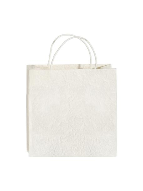 Geschenktaschen Will, 3 Stück, Papier, Weiss, Cremefarben, 12 x 12 cm