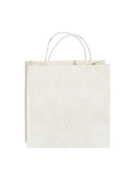 Torba na prezent Will, 3szt., Papier, Biały, odcienie kremowego, S 12 x W 12 cm