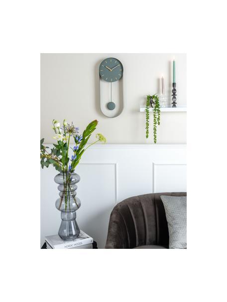 Orologio da parete Charm, Metallo rivestito, Verde, Larg. 20 x Alt. 50 cm