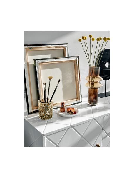 Jarrón de vidrio Rilla, grande, Vidrio, Ámbar, Ø 9 x Al 32 cm