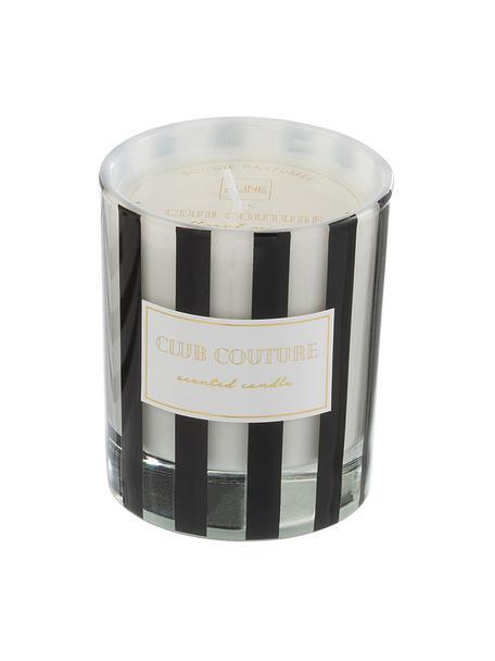 Geurkaars Club Couture (bloemen), Houder: glas, Zwart, transparant, wit, Ø 8 x H 10 cm