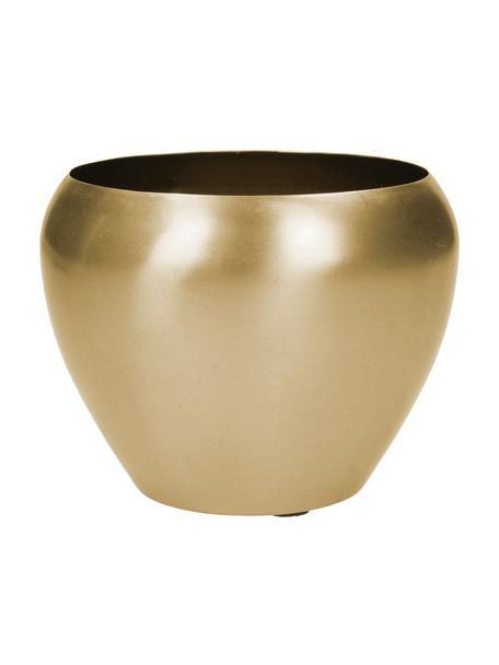 Portavaso rotondo in metallo dorato Pat, Metallo rivestito, Ottonato, Ø 12 x Alt. 10 cm